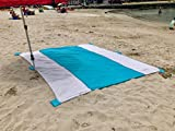 Best Deal! HUGE Sand Proof Quick Drying Travel Family Beach Blanket X Large 9 x 10