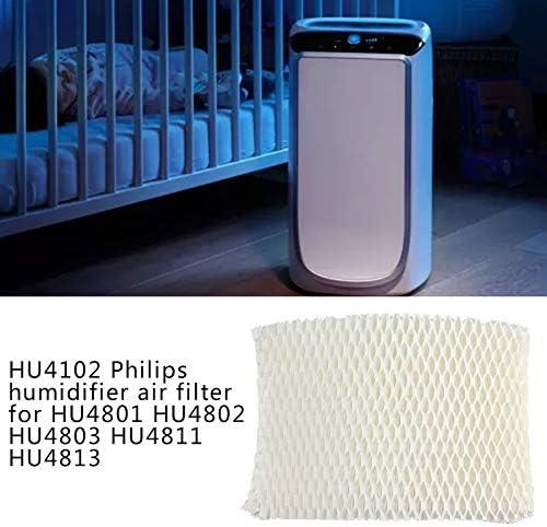 Filtres dhumidificateur dair Filtre de pi/èces de bact/éries adsorb/ées pour Philips HU4801 HU4802 HU4803 HU4811 HU4813 Humidificateur Blanc