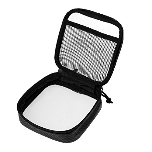 MagiDeal Klare Mini Aufbewahrung Beutel mit Reißverschluss, Innen Mesh Seite Tasche