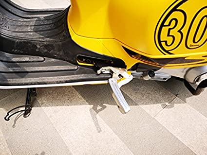 PRO-KODASKIN Passenger Foot Peg Extensions Extended Footpegs for Vespa GT GTS GTV 60 125 200 250 300 300ie Titanium