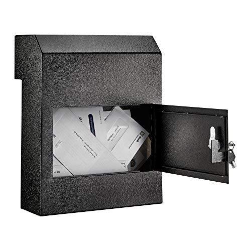 AdirOffice Through-The-Door Safe Locking Drop Box (Black) by AdirOffice
