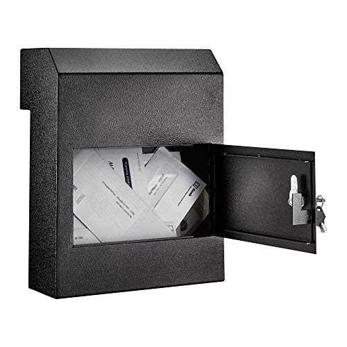 AdirOffice Through-The-Door Safe Locking Drop Box (Black) ()