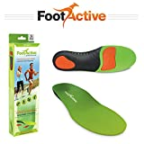 FootActive SPORTS Insoles- High-Impact Full-Length Advanced Orthotic Arch-Support Insoles for Sports, Athletics, Leisure, Work and Play. Maximum Comfort and Shock Absorption for Injury Prevention