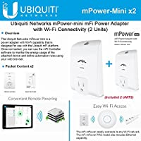 Ubiquiti mPower Mini 2Units 1Port mFi Power Outlet Wifi Connectivity 802.11b/g/n