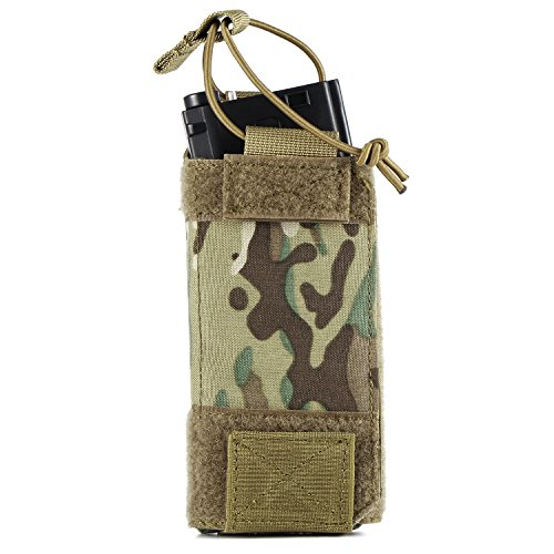 (Barbarians Tactical Magazine Pouch 500D Cordura Fits All Magazines AR15/M4/M16/G36 ETC, Adjustable MOLLE Mag Holder Camo)