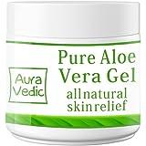 Auravedic Pure Natural Aloe Vera Gel, 100g