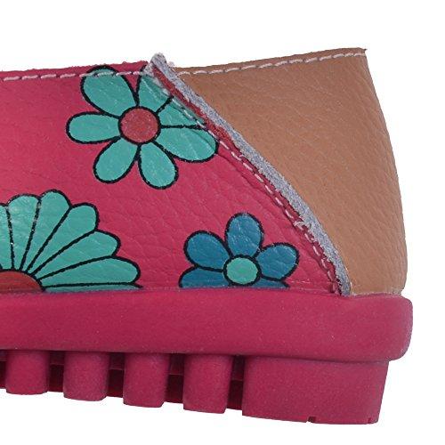 enfiler Rosenrot chaussettes Grand Pompes à Fleur Hee Imprimé Rouge femme colorée wYdxWSv0