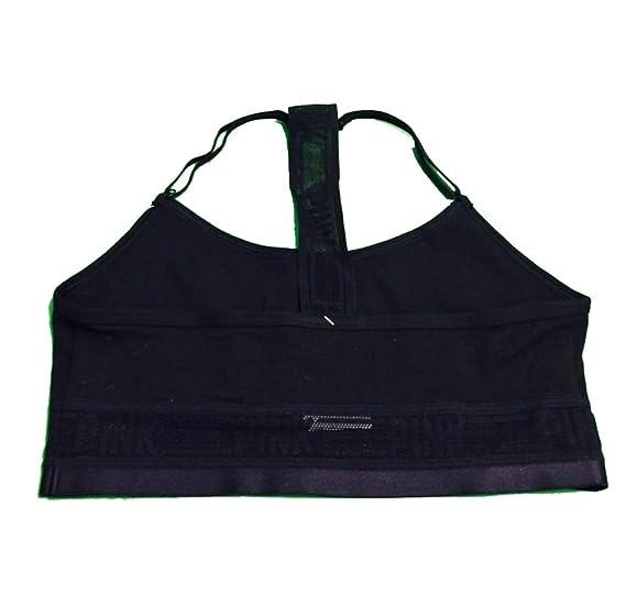 3c89b099ee598 VICTORIA S SECRET T-Shirt Racerback cotton Bra Top -Black at Amazon ...