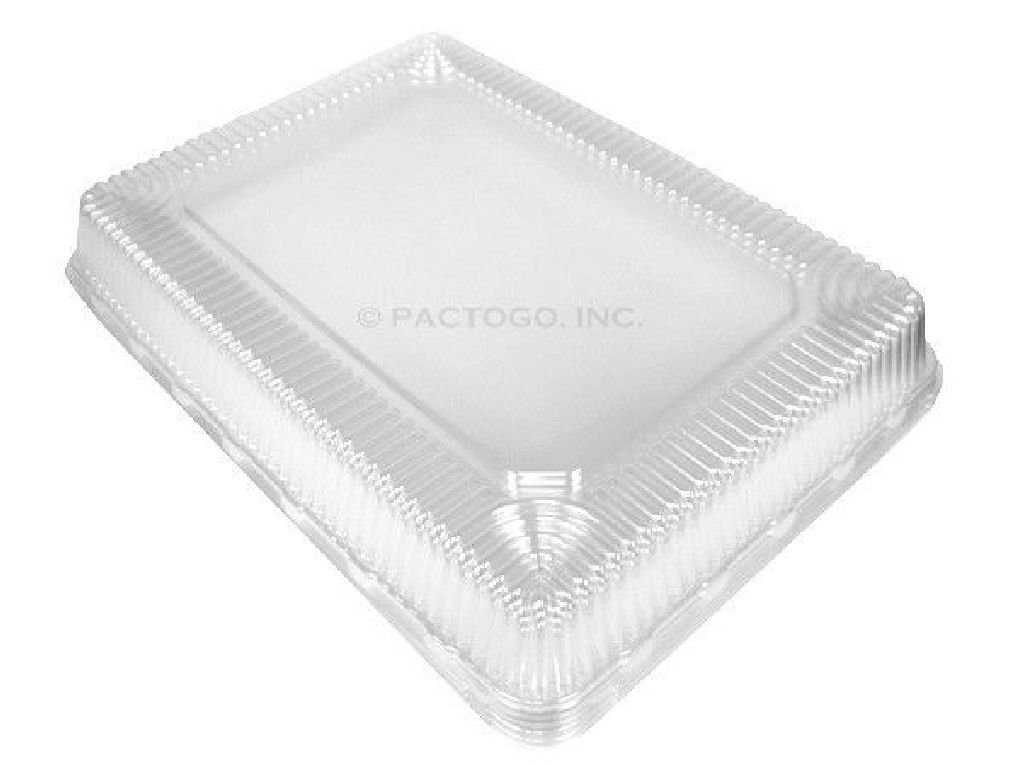 Clear High Dome Lid for Half-Size 1/2 Sheet Cake Aluminum Pan 100/CS
