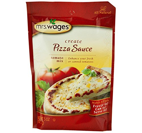 Mrs. Wages Pizza Sauce Tomato Seasoning Mix, 5 Oz. Pouch (Pack of (Pizza Sauce Tomato Paste)