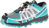 Salomon Women's Fellraiser W Trail Running Shoe,Aluminium/Moorea Blue/Cane,9 M US
