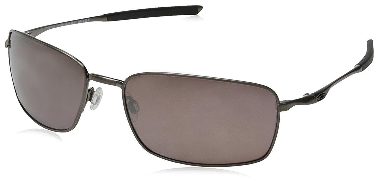5026da0d79 Oakley Men s Ti Square Wire Polarized Iridium Sunglasses Brushed Chrome   Amazon.in  Clothing   Accessories