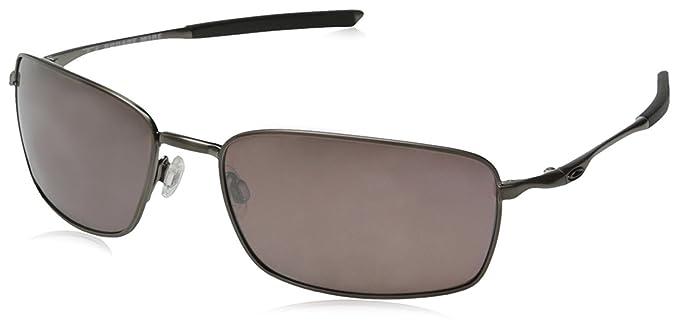 fe26d88c8c Image Unavailable. Image not available for. Colour  Oakley Men s Ti Square  Wire Polarized Iridium Sunglasses Brushed Chrome