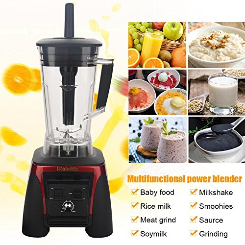 Juicer 2200W Electronic Commercial Blender Food Processor Mixer Smoothie Machine (US Plug 110V-Red) by Aramox (Image #3)