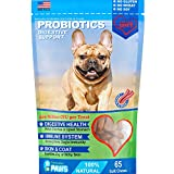 Probiotics for Dogs - Treats - for Digestion, Diarrhea Relief, Regularity, Promotes Immune System and Digestive Health - Bacon Flavor - 65 Soft Chews