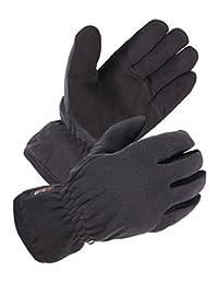 SKYDEER Men's Winter Gloves with Premium Genuine Deerskin Suede Leather and Windproof Polar Fleece (SD8661T/M)