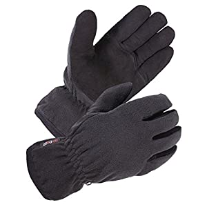 SKYDEER Winter Glove with Warm Deerskin Suede Leather and Thick Windproof Polar Fleece (Unisex SD8661T)