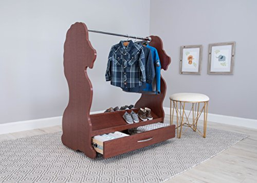 Image of Ace Baby Furniture Lion Mobile Dress-Up Clothes and Shoe Organizer, Cherry