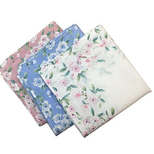 Number Printing (Ladies Printing Floral Handkerchiefs Pack of 6 … )