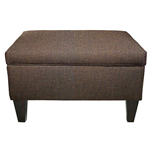 MJL Furniture Brooklyn Dawson-7 Upholstered Square-Legged Box Storage Ottoman Saddle ()
