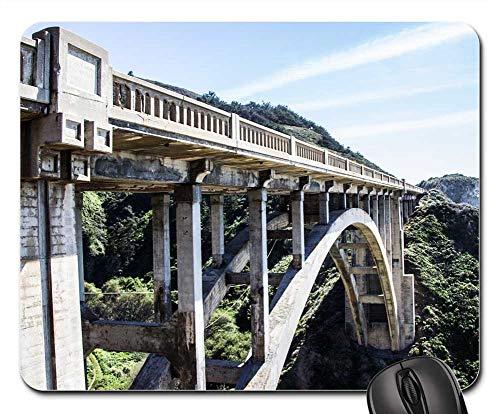 (Mouse Pads - Bridge Concrete Arch Gorge Structure Construction)