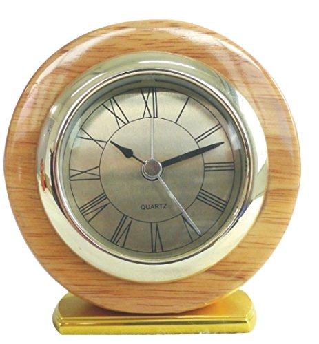 YUSOUND Round Mini Wooden Digital Alarm Clock, Red/Orange/Yellow (Chelsea Alarm Clock)