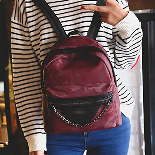 Camuflaje Cadena Señoras Individualidad Ocio Mochila Bolsa De Viaje Simple Red