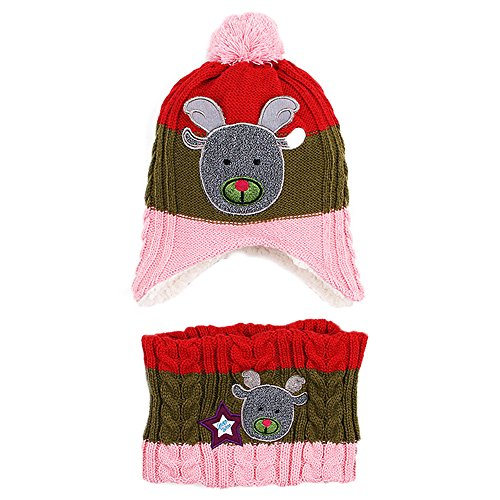 AIKOSHA Roman Children's Winter Warm Fleece Hat, Scarf, & Glove Set for Xmas Gift