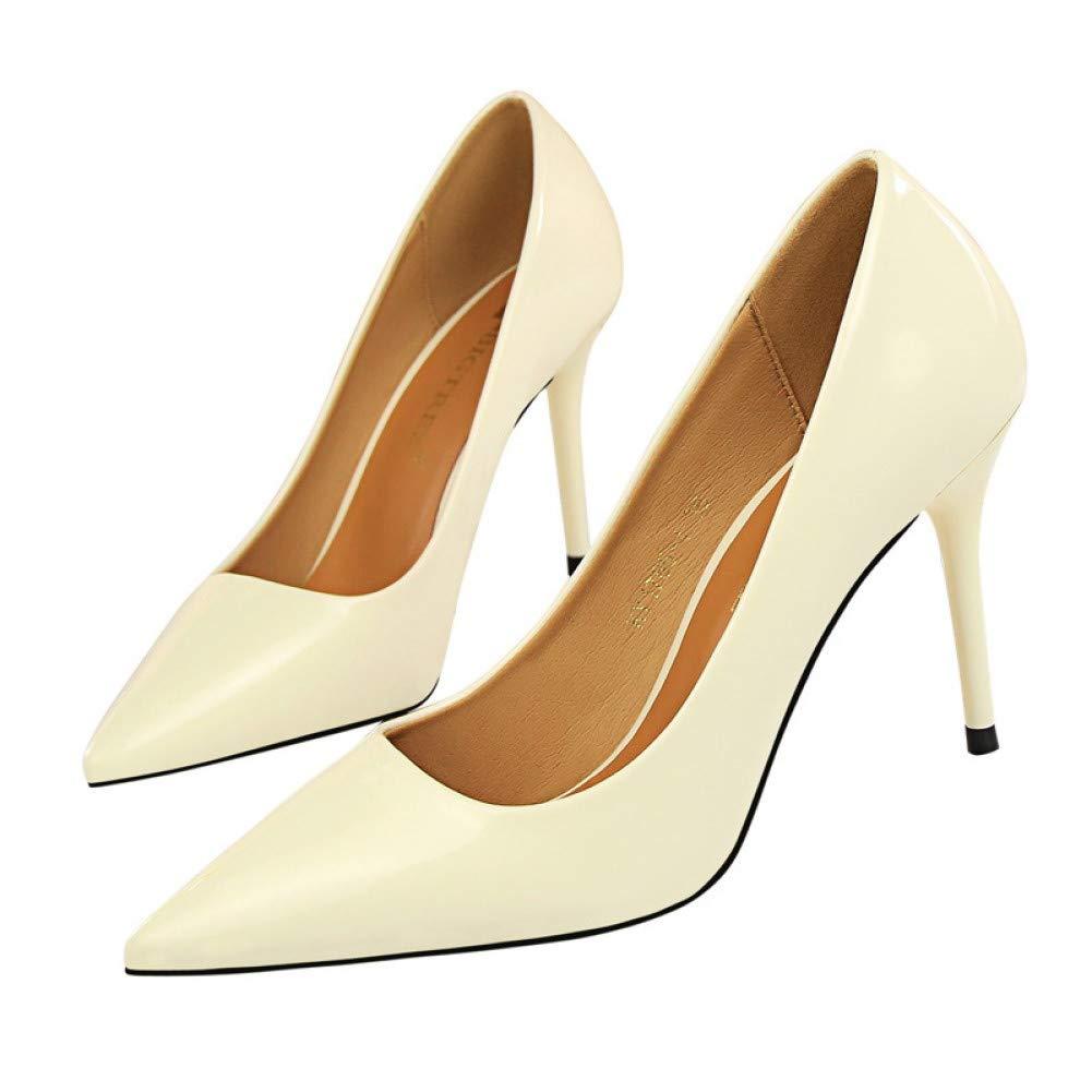 Ai Ya-liangxie Neue Basic Frauen Pumpen Sexy Spitze Zehe Thin Heel High Heels Glossi Schuhe Glitter Stiletto Heels Marke Frauen Schuhe