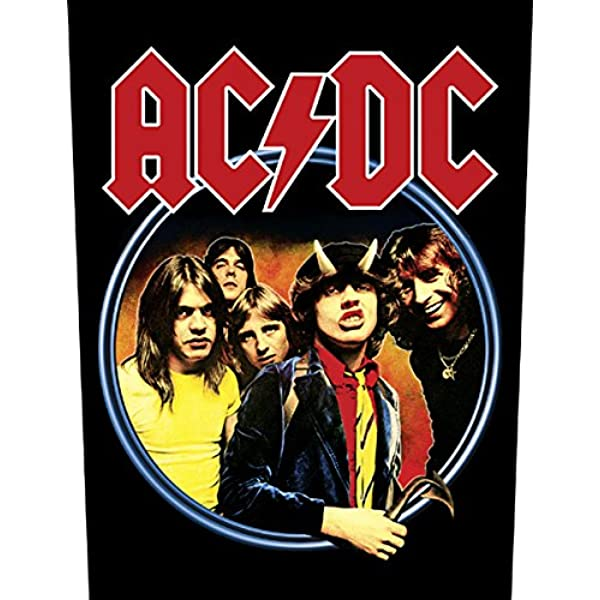 """AC//DC HIGHWAY TO HELL OFFICIAL PATCH 10 X 10cm 4/"""" X 4/"""""""