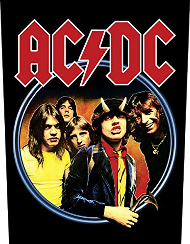 XLG AC/DC Highway To Hell Back Patch Album Art Rock Music Jacket Sew On Applique