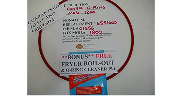 COVER O-RING FITS BROASTER MOD.1800 (ROASTERS OWN SELLS ONLY F.D.A. GRADE O-RINGS,