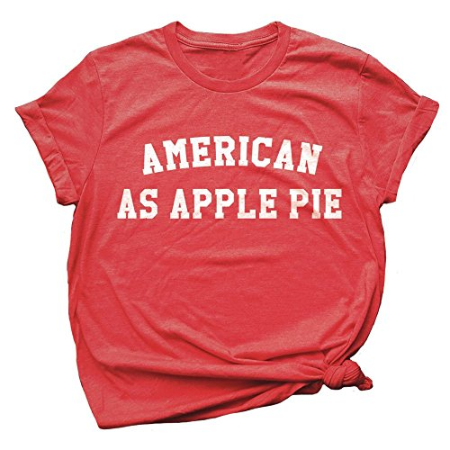Spunky Pineapple American As Apple Pie 4th of July Basic Tee All American Apple Pie