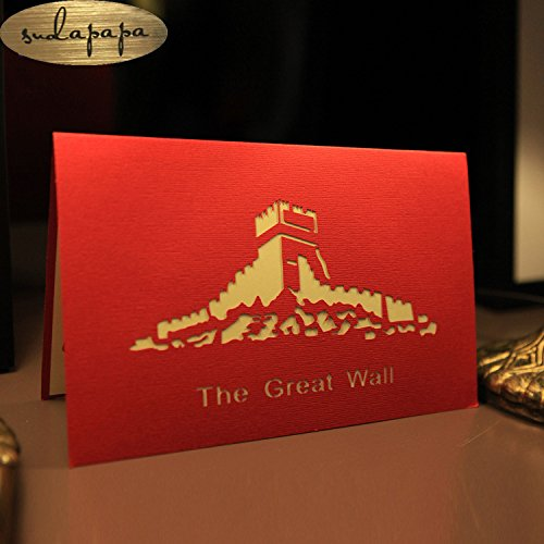 Paper Craft 3d Pop-up Greeting Card Handmade Greeting (12.7*20CM The Great Wall)
