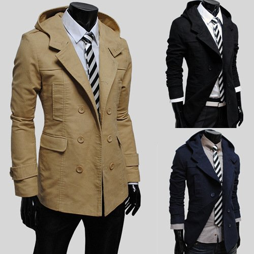 Beige XL Coupe-vent hommes grande taille homme mode hommeteau hommeteau à capuchon