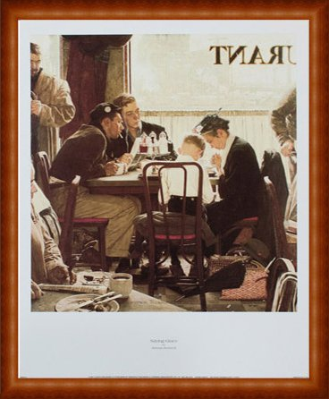 ポスター ノーマン ロックウェル First Down 1997 額装品 ウッドハイグレードフレーム(ナチュラル) B00CTTLPLI ナチュラル ナチュラル