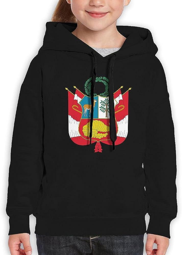 DTMN7 Escudo Nacional Del Per/Ã/º Cute Printed Long Sleeve Hoodie For Kids Spring Autumn Winter