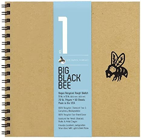 Bee Paper Canvasskin Paper Pad 9-Inch by 12-Inch