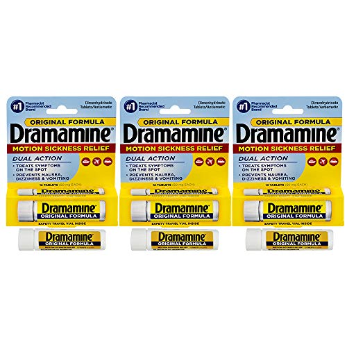 Dramamine Original Formula Motion Sickness Relief | 12 Count | Pack of 3