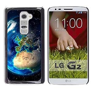 Be Good Phone Accessory // Dura Cáscara cubierta Protectora Caso Carcasa Funda de Protección para LG G2 D800 D802 D802TA D803 VS980 LS980 // Planet Earth From Space