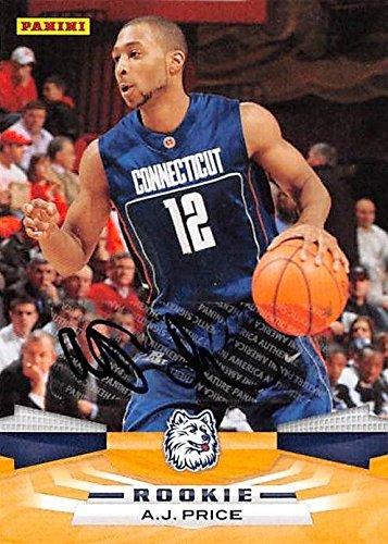 A.J. Price autographed Basketball Card (UCONN Huskies) 2009 Panini Rookie #396 - Unsigned Basketball -