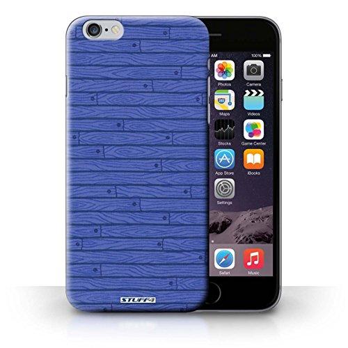 iCHOOSE Print Motif Coque de protection Case / Plastique manchon de telephone Coque pour iPhone 6+/Plus 5.5 / Collection Motif Bois / Bleu