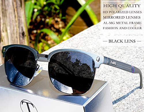 Grigio Al Polarizzate Metallo Telaio Occhiali Semi Leggero Sole Uomo mg Super Da In cerchiato Attcl xqvA6afwW
