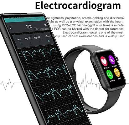 HWTP Reloj Inteligente para Hombres con frecuencia cardíaca ...