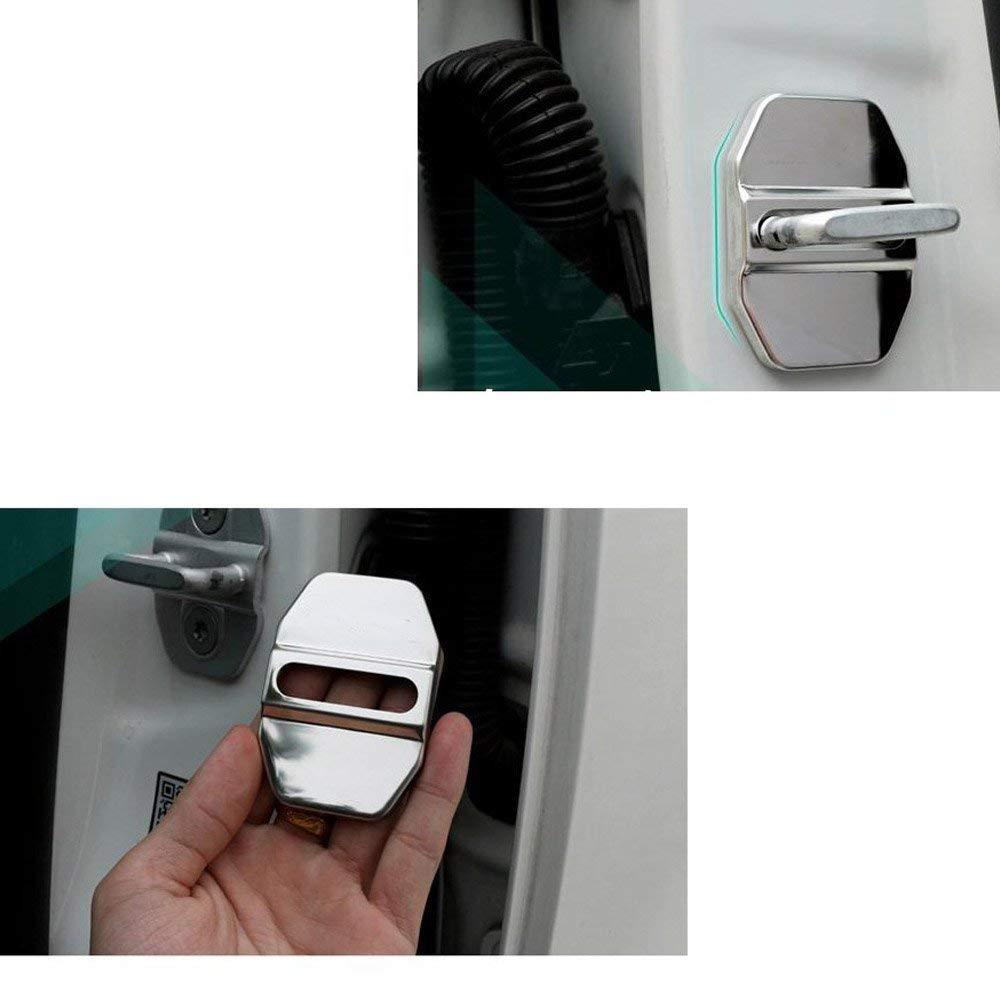 HGYB 4/pcs en Acier Inoxydable verrous de Porte de Voiture Housse de Protection Auto Int/érieur Protection Accessoires couvertures de Portes pour M-ercedes B-ENZ
