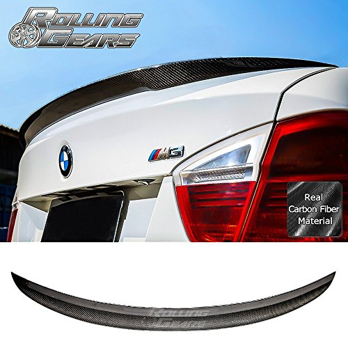Rolling Gears E90 Carbon Fiber Trunk Spoiler Fits E90 3er Sedan 2005-2012, Performance Style ()