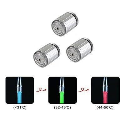 Zantec Creative LED Lumineux robinet d'eau Exquise Eau robinet Décoration