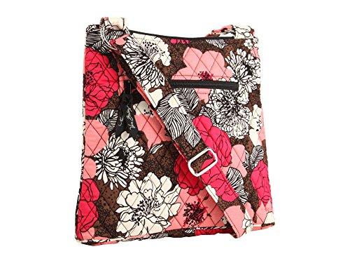 Vera Bradley Hipster Mocha Rouge Handbag Purse