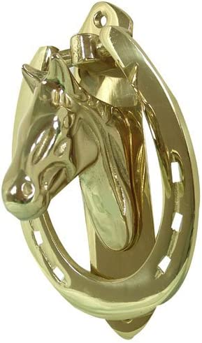 Intrepid International Solid Brass Horse Head Door Knocker