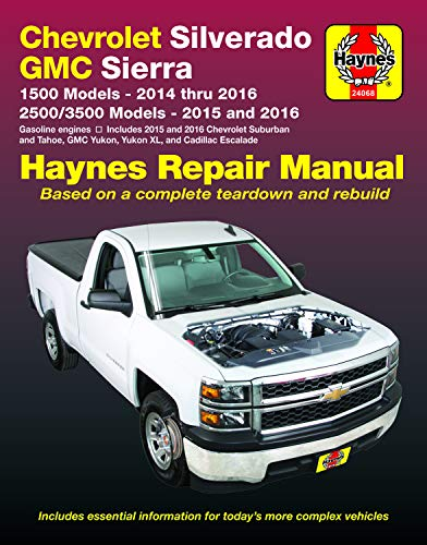 Chevy Silverado & GMC Sierra 1500 Pickups (14-16), 2500/3500, Suburban/Tahoe/Yukon & Escalade (15-16) Haynes Repair Manual (Does not include 14 ... SUVs, diesel engines) (Haynes Automotive)